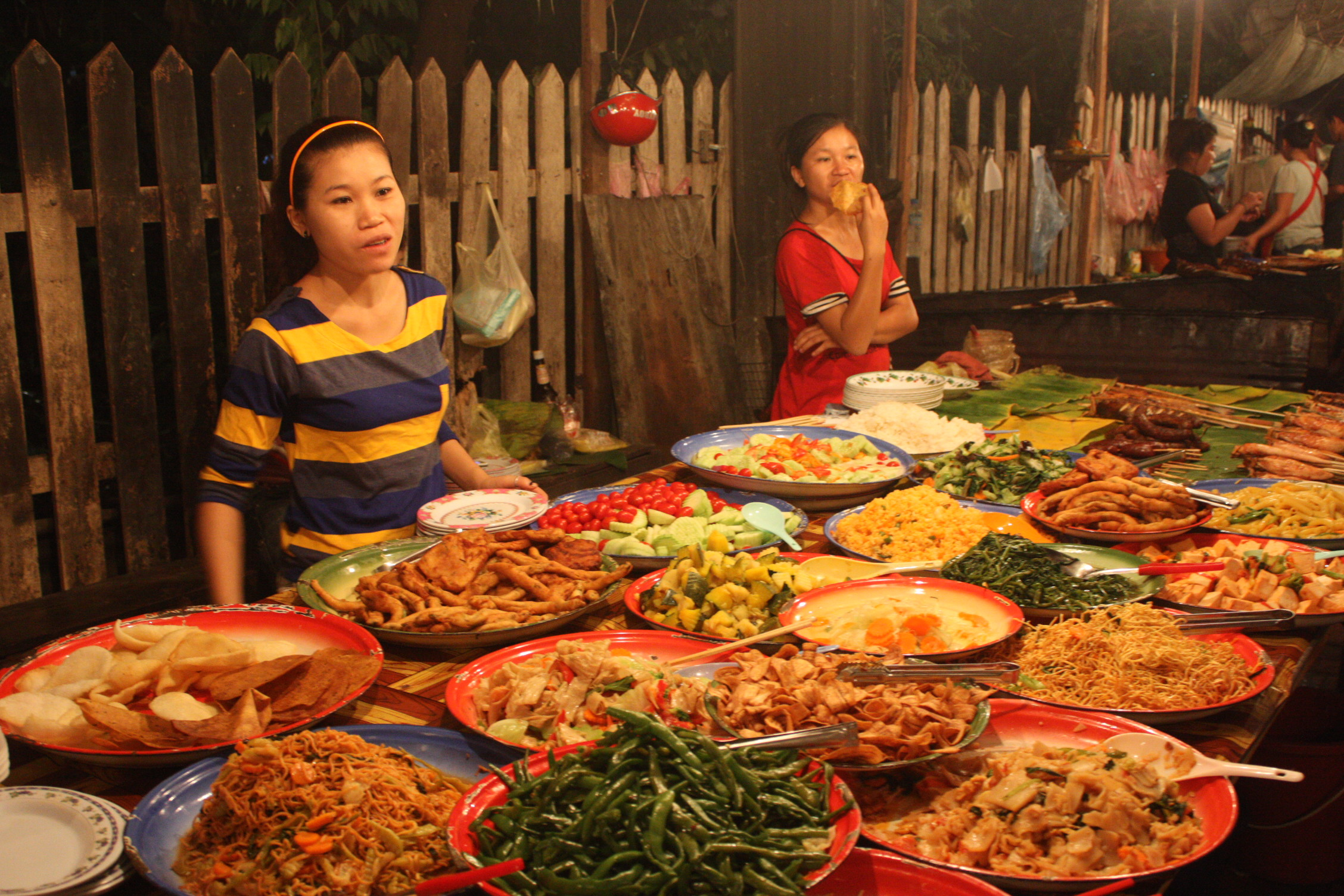 A Feast At The Night Food Stalls In Laos Where To Next