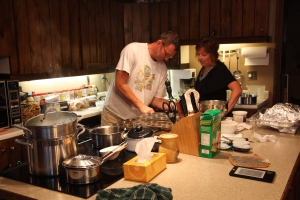 Wayne and Leslie in the kitchen