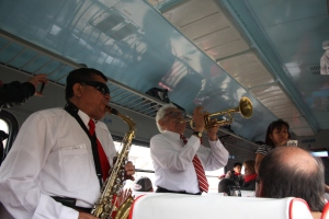 Band on train