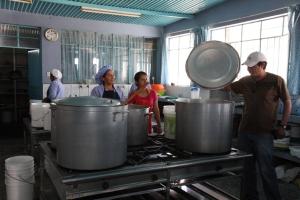 Industrial kitchen in Peru
