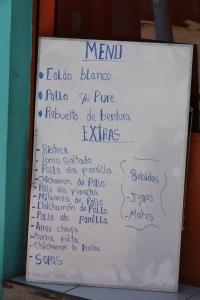 Peruvian menu