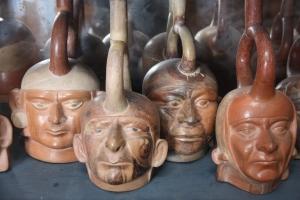 Peruvian face pottery
