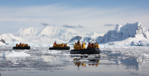 Zodiacs in the Antarctic