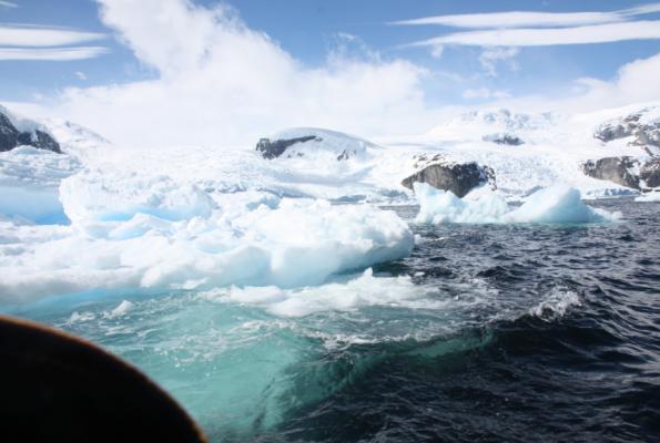 Exploding iceberg