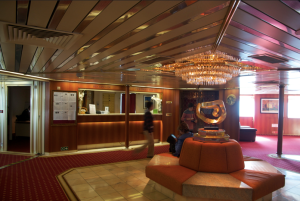 Reception area on the Ocean Diamond