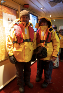 Outfitted for an Antarctic landing