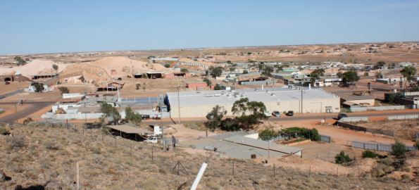 Looking out on Coober Pedy
