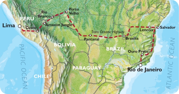 Oasis South America Map Trans Oceanic