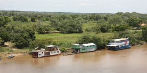 Houseboats in the Pantanal