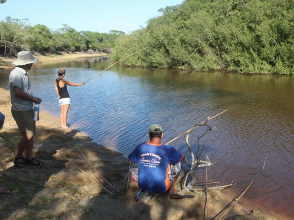 Piranha fishing, Pantanal