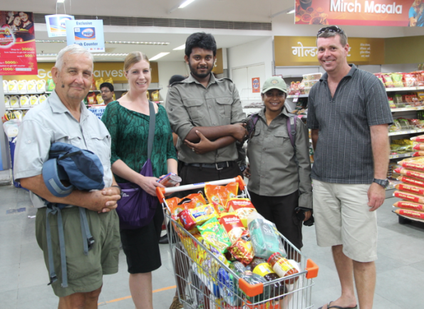 supermarket shopping India