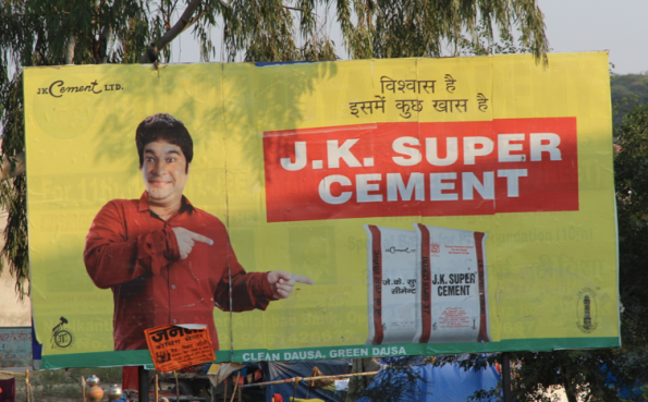 Cement billboard
