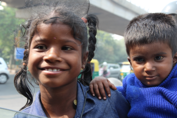 Indian girl and boy