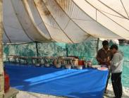 Serving tent
