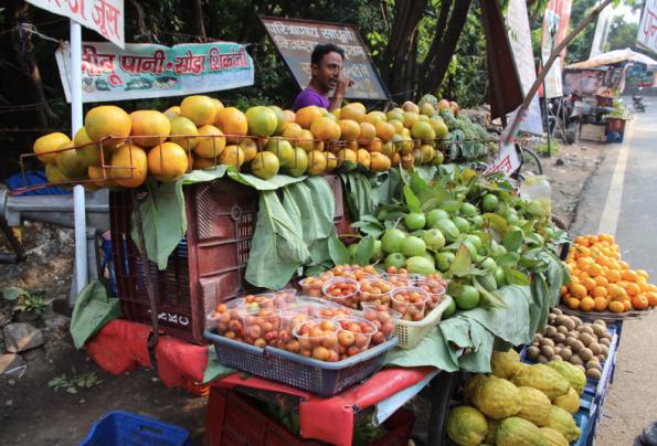 fruit stall, India
