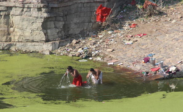 laundry and bath, India