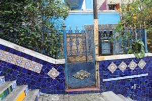 Blue house on Lapa Steps