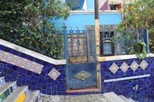 Blue house on Lapa Steps