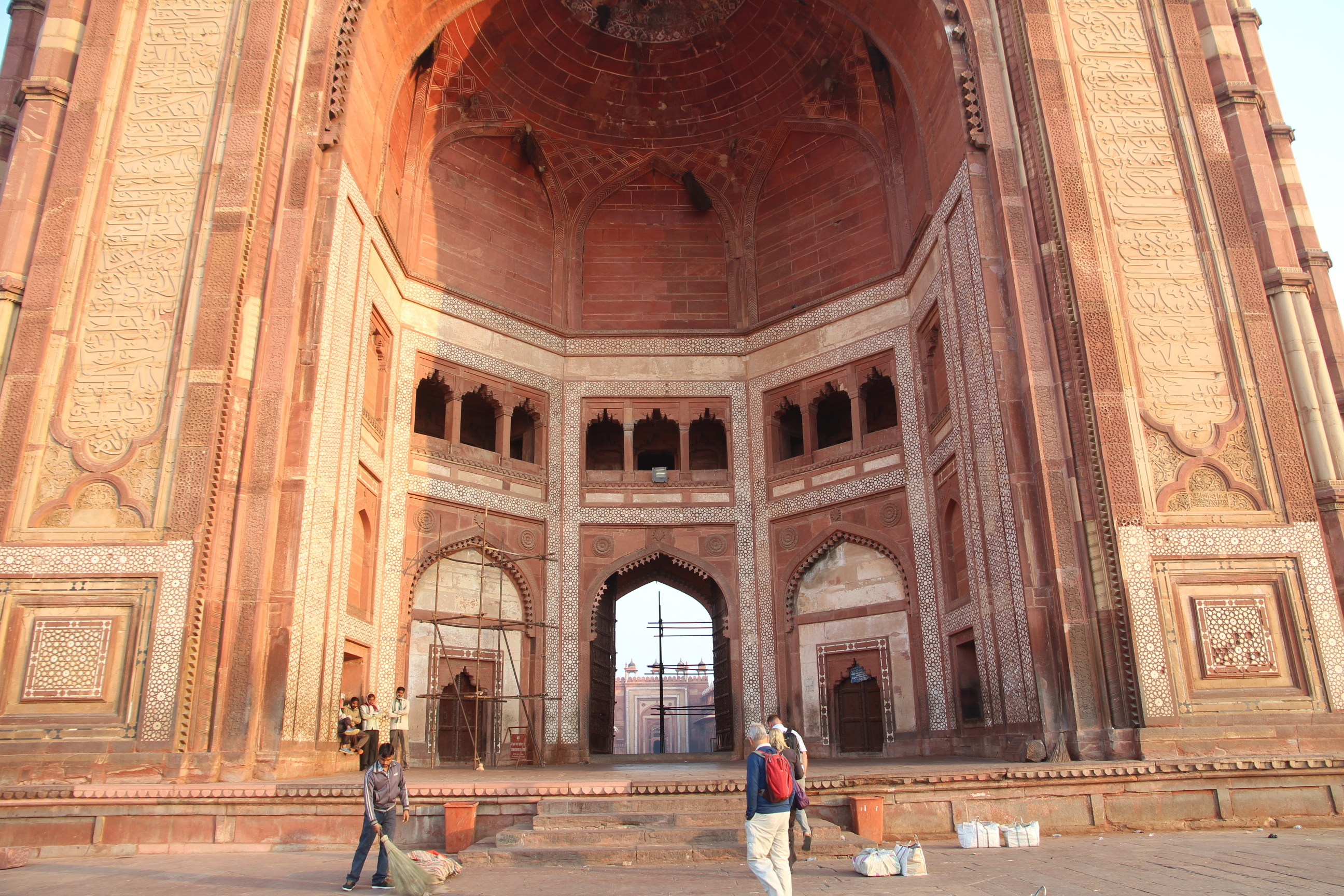 """buland darwaza Tourists visiting fatehpur sikri can not miss the buland darwaza it is well termed  as """"gate of magnificence"""" this building was built by emperor akbar to."""