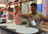 making dosas