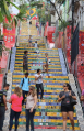 Lapa Steps, tourists