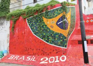 Brazilian flag, Lapa Steps