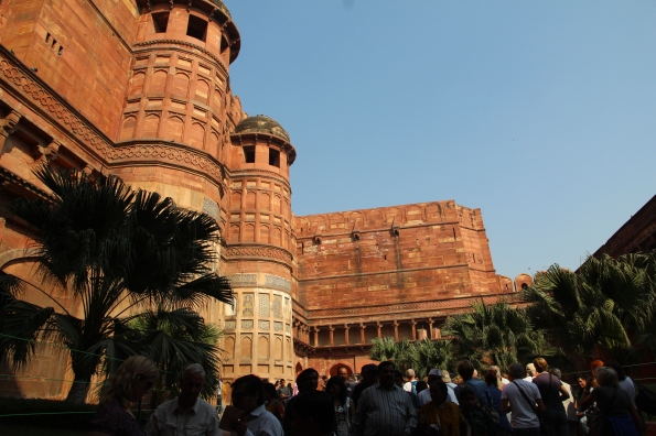 Agra Fort gate towers