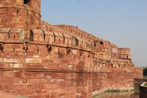 Agra Fort with moat