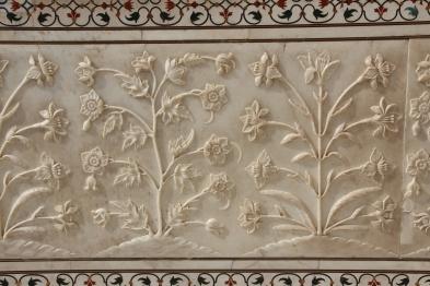 Taj Mahal carved marble