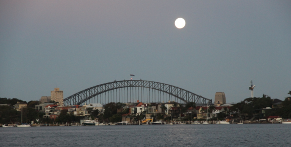 moonrise, Sydney Harbour Bridge