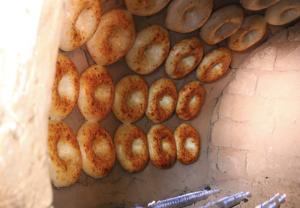 baking bread, Uzbekistan