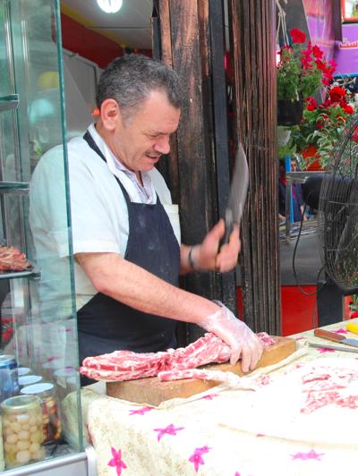 Butchering meat, Iran
