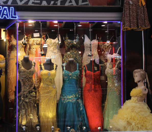 Evening wear, Tehran bazaar