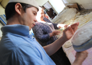 final shaping of dough