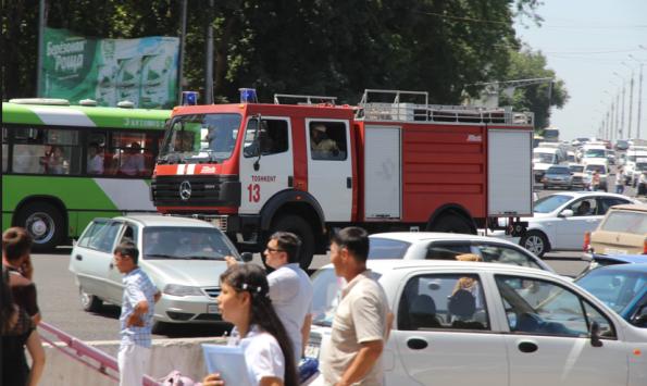 fire truck, Uzbekistan