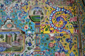 Golestan Palace mismatched tiles