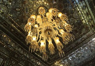 Golestan Palace, wind breaker, chandelier