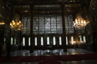 Golestan Palace, wind breaker, main room