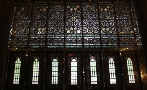 Golestan Palace, wind breaker stained glass
