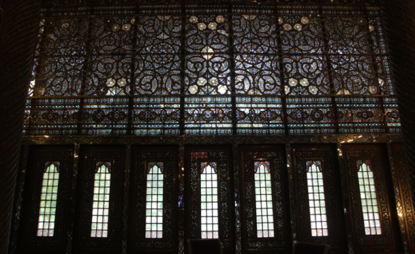 Golestan Palace, wind breaker stained glass