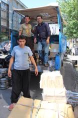 Loading a truck, Iran