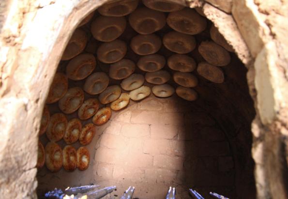 rows of bread, Tashkent