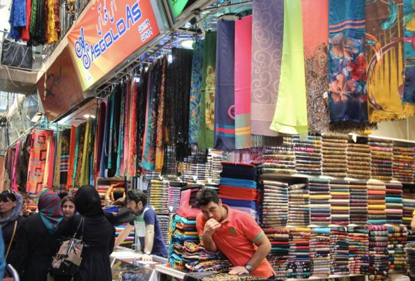 Scarves, Tehran bazaar