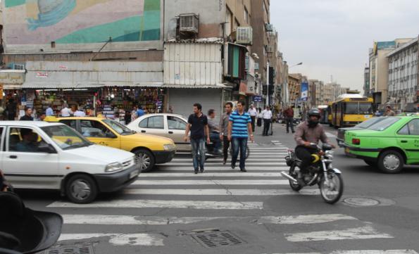 Zebra crossing in Iran