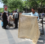 Selling cloth, Tehran, Iran