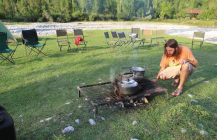 Cooking near Arslanbob