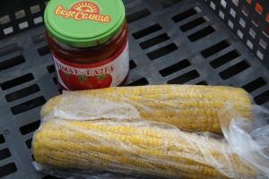 corn and tomato paste