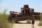 Aral Sea, two boats