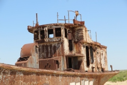 Aral sea ghost ship