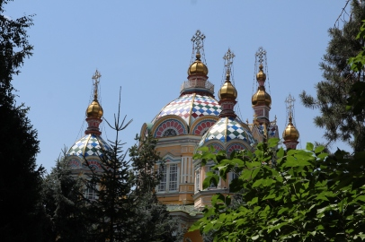 Ascension Cathedral interior, Almaty